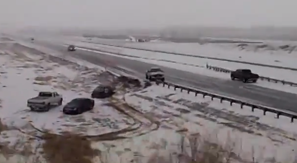 Icy Roads Causes Real Life Bumper Cars Mash Up In Colorado (VIDEO)