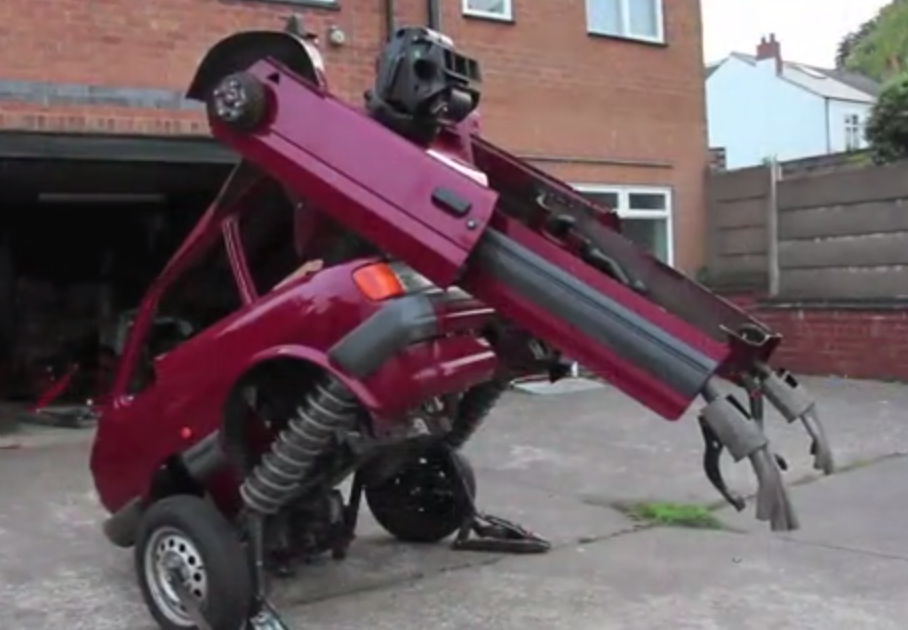 Man builds Fiesta Transformer