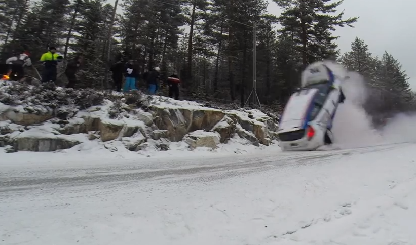 Rally Drivers Fly Into Icy River At 100mph