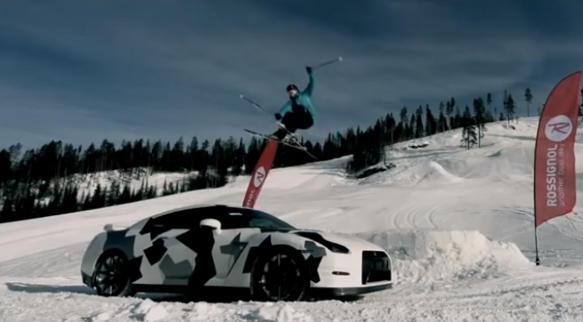 The Nissan GT-R Hits The Slopes to go Skiing! (VIDEO)