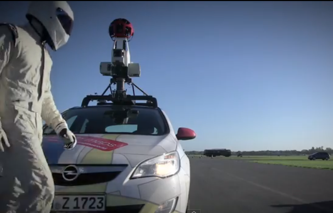 Stig vs. google street view car