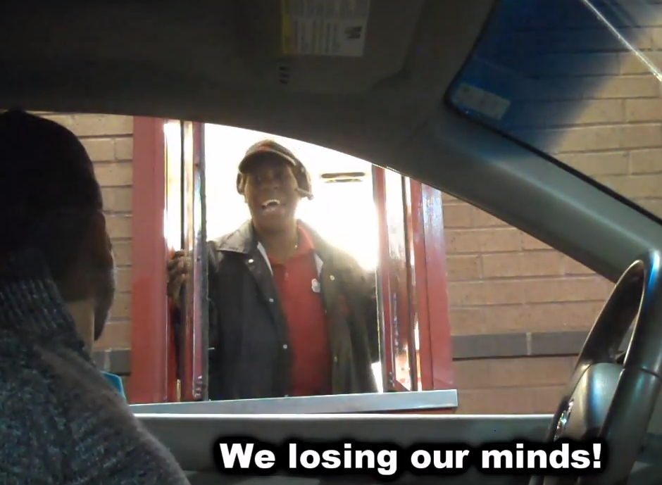 Drive Thru Prank Has Fast Workers Hearing Things! (VIDEO)