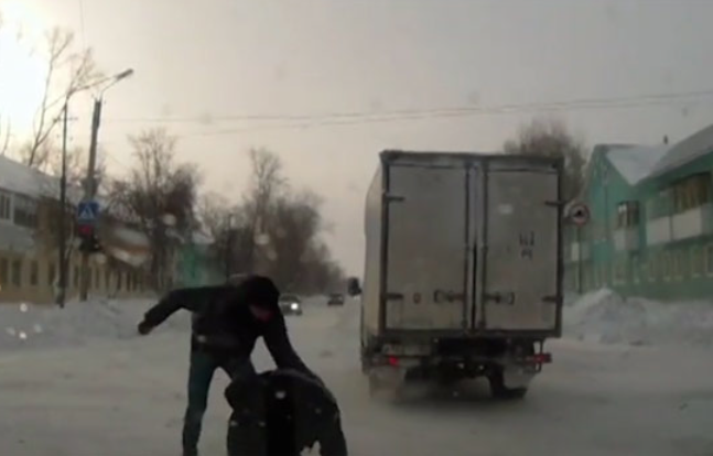 Russian Roadside brawl