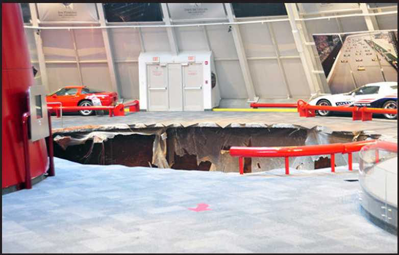 National Corvette Museum Hit By 40-Foot Sinkhole Swallowing 8 Cars (PHOTOS)