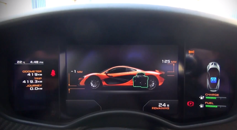 Putting the McLaren P1 into Race Mode
