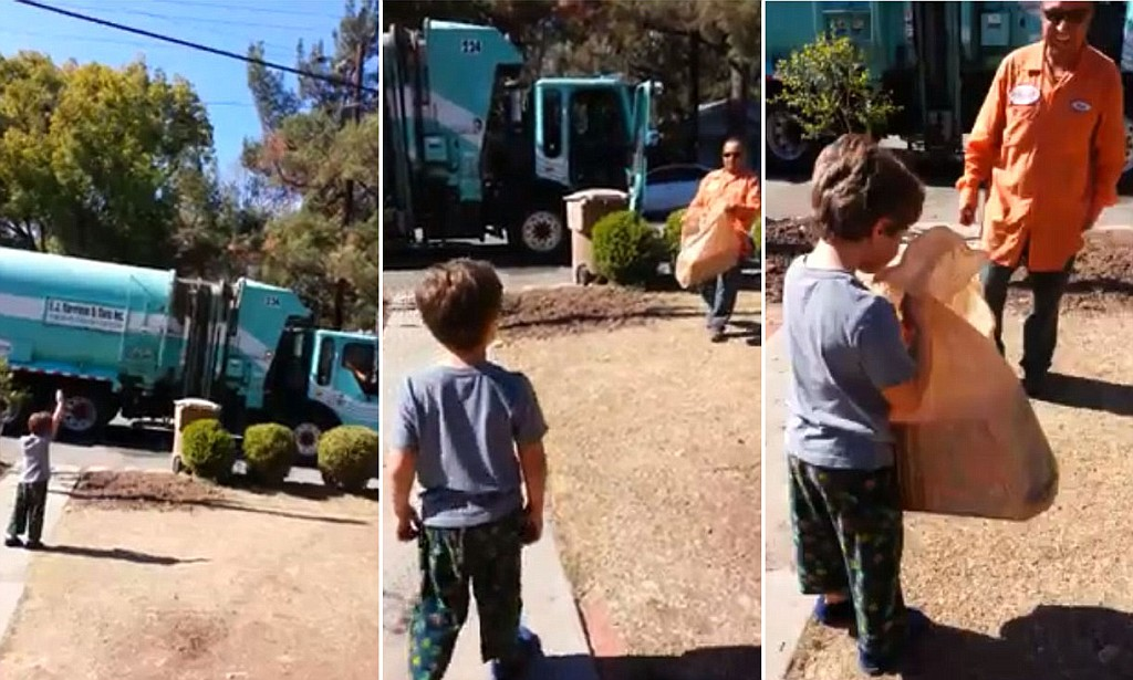 autistic boy garbage truck gift