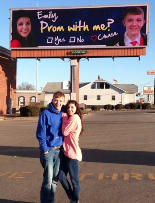 Billboard To Ask Girlfriend To Prom