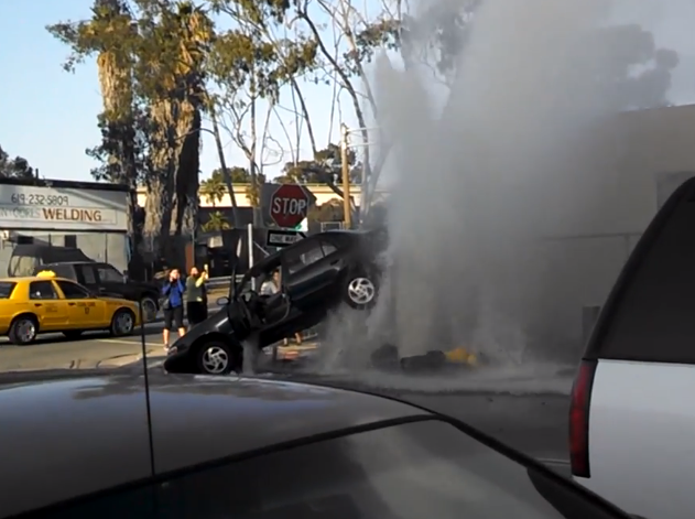 san diego fire hydrant crash