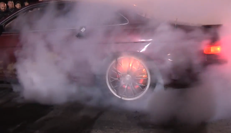 Burnout Brakes Catch Fire