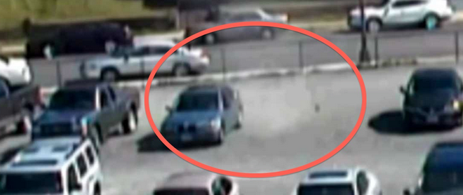 Spooky! Did Ghosts Vandalise The Police Cars In This Haunted Parking Lot? (VIDEO)