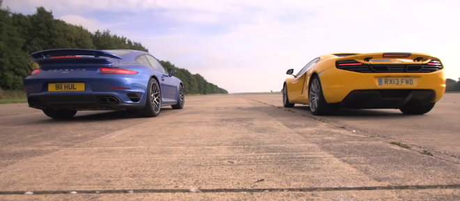 Supercar Showdown: Porsche 911 Turbo VS McLaren 12C (VIDEO)