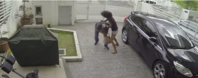 Girl Beats the Sh*t Out Of Guy Who Attempts To Mug Her In Her Own Driveway (VIDEO)