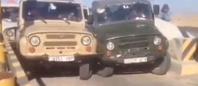 Mongolian Traffic Wars - Mongolian Drivers Would Rather Crash Than Let Another Car Through! (VIDEO)