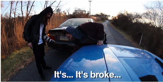 Bam Margera Crashes His Lamborghini