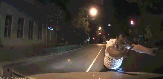 The funniest drunk jaywalker ever!