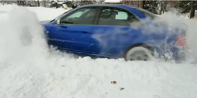 "500 hp Audi S4 quattro vs 12""+ of fresh snow! Unstoppable... (VIDEO)"