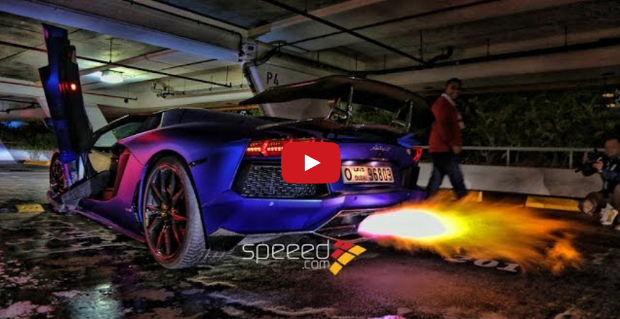 Lamborghini Revs, Spits Flames, Starts Fire – Video