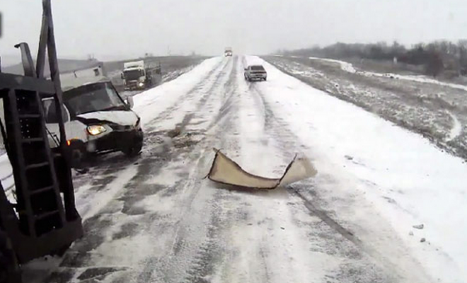 Ice, Ice Crashes Russian Style (VIDEO)
