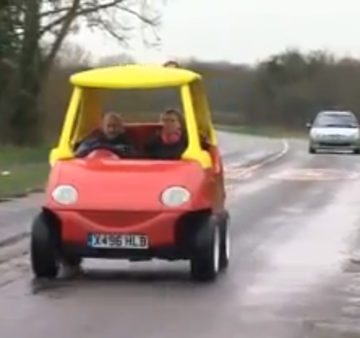 The Cozy Coupe For Adults Turns A Childhood Favorite Toy Car Into A Beast That Can Go 70 MPH (VIDEO)