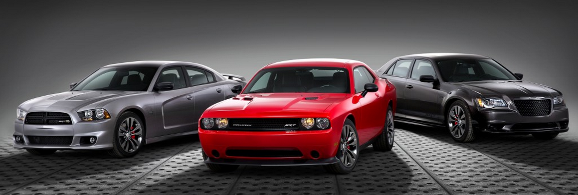 The SRT brand made a (tiny) bit of news today at the Chicago Auto Show. Three of the four SRT vehicles will be offered up in new special versions dubbed the Satin Vapor editions. The Dodge Challenger, Chrysler 300, and Dodge Charger will all be made available in this new style, with each vehicle getting a specific exterior and interior treatment. Additionally, each version is very moderately priced. MUST WATCH: Audi S5 Snow Drift Goes Very, Very Wrong: Video The Dodge Challenger Satin Vapor Edition wears 20-inch wheels, which are finished in a black satin chrome. On the outside, the mirrors and gas flap door also feature a black satin finish. The overall paintwork is available in either white, red, or orange. Inside, the Challenger gets Napa leather seats and suede inserts. Chrysler outfits the 300 SRT with the same 20-inch wheels, and the exterior bits also get the satin black pieces. Paintwork is offered up in either white, silver, or a color called Granite Crystal. On the inside, there is Napa leather and piano black trim pieces. CHECK OUT: Meet The Bugatti Veyron Of The Dubai Police Fleet: Video Finally, the Charger gets... you guessed it, satin black trim bits on the outside and 20-inch wheels. Exterior color choices are white, red, silver, and graphite. On the interior, the Napa leather is mixed with suede inserts. SRT is trying (if only a little), but so far, the Chicago Auto Show is underwhelming on all fronts.