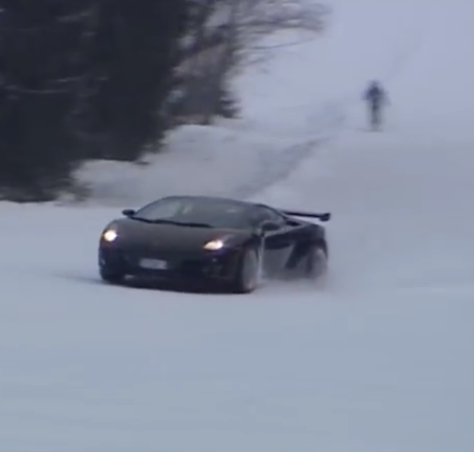 In The Spirit Of Winter Olympics This Lamborghini Gallardo Takes To The Ski Slopes (VIDEO)