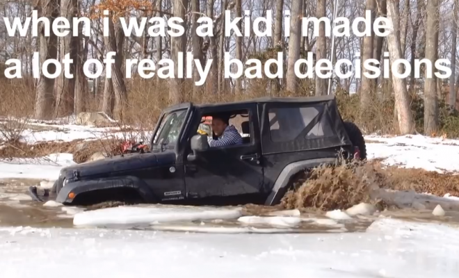 This Is What Happens When You Take A Jeep Ice Skating! (FAIL)