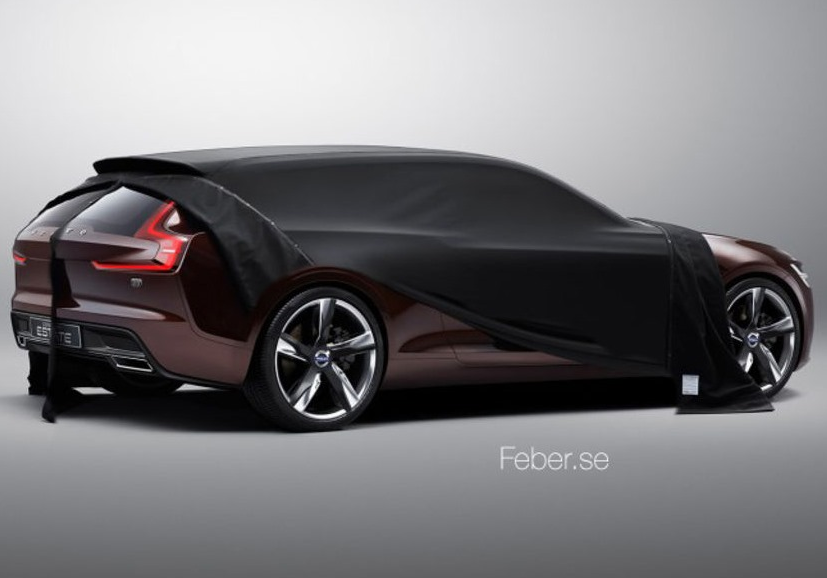 Volvo's New Rumoured Concept Model for Geneva Looks Like a Shooting Brake Coupe (PHOTOS)