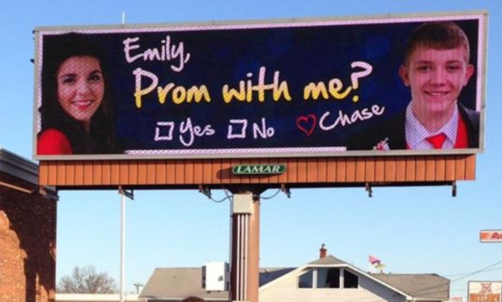 Billboard To Ask Girl To Prom