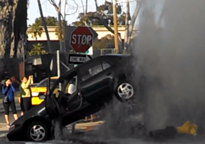 san diego fire hydrant lifts car