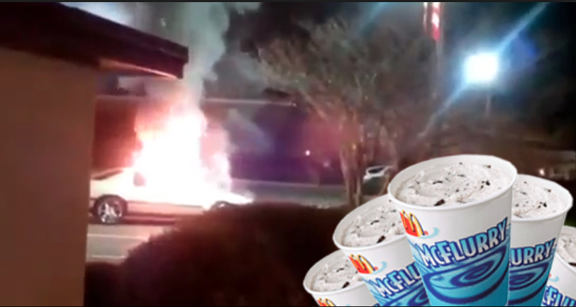 Woman Sets Car On Fire After Being Denied McFlurr