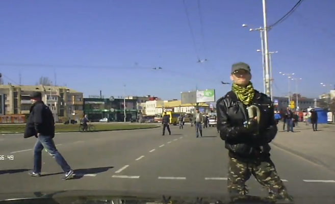 attacked driving into Crimea