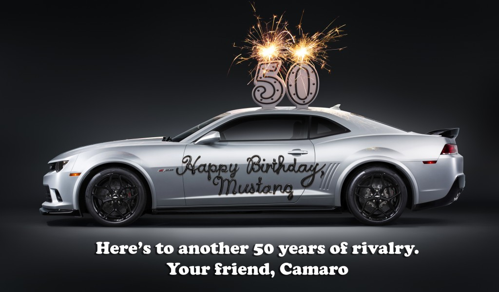 chevy-wishes-ford-mustang-happy-birthday