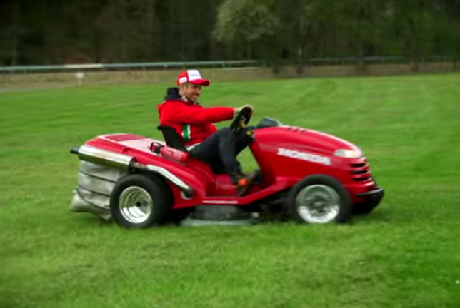 The World's Fastest Lawn Mower takes on Eau rouge corner