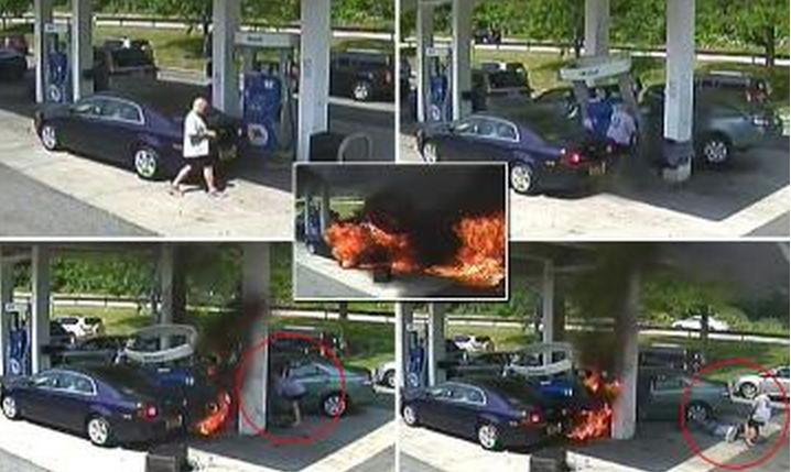 hero saves life in gas station
