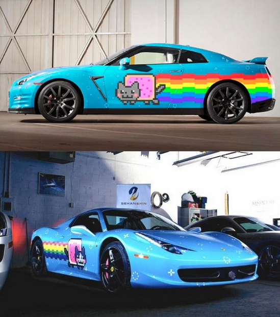 Deadmau5 Nyan Cat Nissan GTR