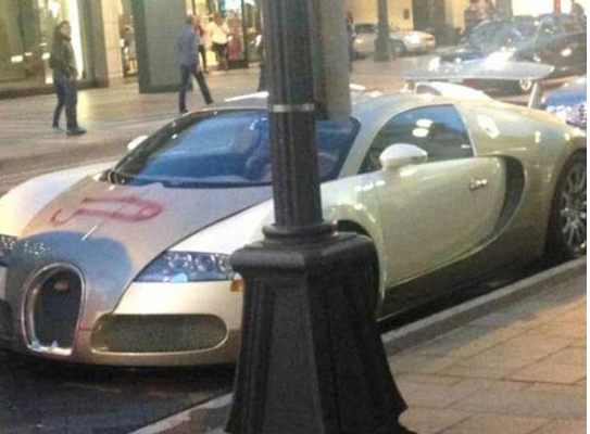 Someone Spray Painted a Penis on $2 Million Bugatti Veyron