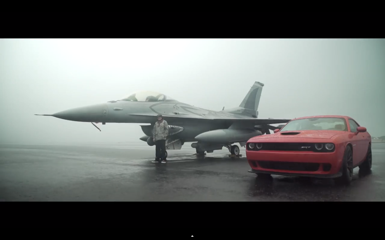 Challenger Hellcat vs Fighter jet