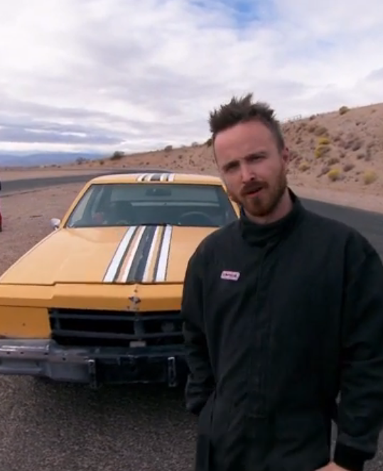breaking bad 39 s aaron paul 39 taught a lesson 39 at need for. Black Bedroom Furniture Sets. Home Design Ideas